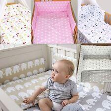 7 PZ Baby Set Di Biancheria Da Letto Vivaio Ragazze O Ragazzi vestibilità per lettino 140x70cm 100% COTONE