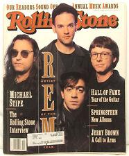 R.E.M. Michael Stipe Interview ROLLING STONE 625 3/5/1992 rem Bruce Springsteen