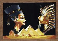Tutankhamun and Nefertiti Egyptian Papyrus Stretched Canvas Wall Art Print Egypt