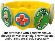 Allermates Allergy Charm or Health Alert Wristband / Multi-Charm Bracelet 41091