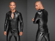 NOIR HANDMADE WETLOOK JACKE clubwear schwarz shirt biker kunstleder hemd