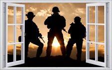 Soldaten Militär Sonnenuntergang Wandtattoo Wandsticker Wandaufkleber F0207