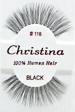 Christina #118 6,12 Pairs 100% Human Hair False Eyelashes