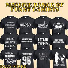FUNNY T-Shirt Uomo Donna Regalo Abbigliamento Novità Scherzo