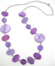 Halskette mit Muschel 92 cm, versch. Farben