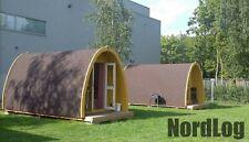 NordLog Camping Pod 2,4 x 5,9 m Haus Campinghaus Ferienhaus Gartenhaus Holz