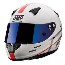 OMP KJ-8 EVO Kart Helmet – CMR 2016 Approved – Clear/Blue Iridium Visor