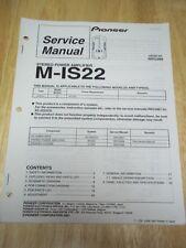Pioneer Service Manual~M-IS22 Amplifier Amp~Original~Repair