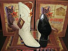LOS ALTOS WOMEN WINTER WHITE CROCODILE TAIL WESTERN COWBOY BOOT (M) L091041