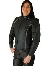 JTS Ladies Leather Motorcycle Motorbke Gina Jacket, CE Armour, Sizes 8-28 T