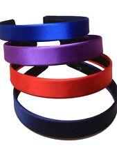 Coloured Satin Covered Alice Band Hair Headband Various Widths Colours Available