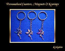 Fairy Tinkerbell Rhinestone Keyring Key Chain Charm Birthday Christmas Gift