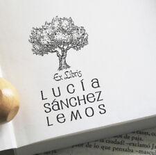 SELLO CAUCHO EX LIBRIS PERSONALIZADO, OLIVO ANDALUCIA JAEN EXLIBRIS LIBROS
