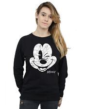 Disney Damen Mickey Mouse Distressed Face Sweatshirt