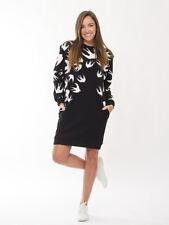 McQ Alexander McQueen Swallow Print Sweatshirt Dress