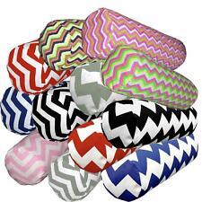Bolster Cover*Zig Zag Cotton Canvas Neck Roll Tube Yoga Massage Pillow Case*Ae