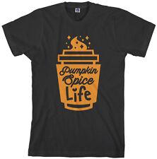 Threadrock Men's Pumpkin Spice Life T-shirt Fall Season Coffee
