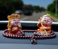 2pcs Car Cartoon Figurines Lucky Maitreya Statue Auto Decor Accessories Gift