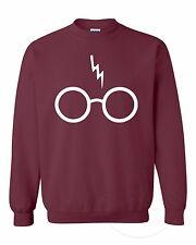 Harry potter's Scar and Glass Funny Harry Potter Magic Fashion Unisex Sweatshirt