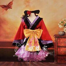 Vocaloid 2 Luka Megurine PROJECT DIVA Cosplay Kostüm Abend-Kleid Kimono lolita