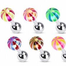 Tragus Piercing Helix Metallic Candy Ball