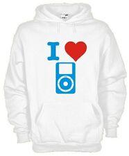 Felpa con cappuccio I love... hoodie KI01 I love iPod