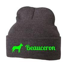 Beanie Strickmütze Mütze Stickmotiv BAEUCERON Hunde Siviwonder