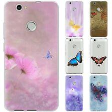 dessana Schmetterlinge Kunst TPU Schutz Hülle Case Handy Tasche Cover für Huawei