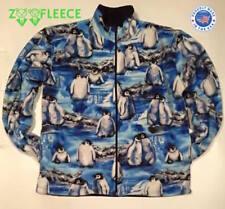 ZooFleece Penguins Blue Happy Feet Coat Winter Pittsburgh Jacket Sweater S-3X