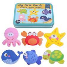 Animal Educational Set Puzzle Baby Preschool Toys Kit Iron Box Children Y