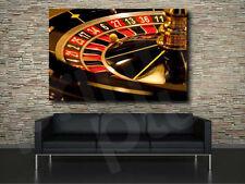 Roulette Casino Fine Art Canvas Poster Print Wall Decor