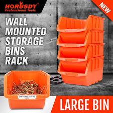 Wall Mounted Bins Rack Storage Organiser Bins Garage Shed Work Bench Workshop