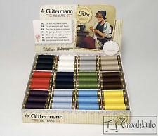 Gutermann 150 Anniversary Thread Set - 72 Spools - 12 Colours - Full Box.