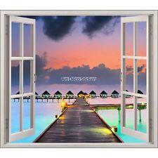 Sticker fenêtre déco Les Maldives réf 5408 5408
