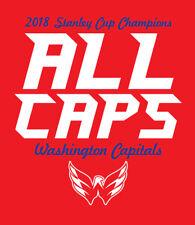 ALL CAPS Washington Capitals 2018 Stanley Cup Champions shirt Caps Champs NHL