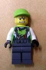 Lego World Racers - Crew Member 3 mit 2 Gesichtern Racer Rennfahrer Figur Neu