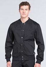 Black Cherokee Scrubs Workwear Core Stretch Mens Warm Up Jacket WW330 BLKW