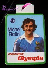 Autocollant Joueur de Football MICHEL PLATINI Publicité Chaussettes OLYMPIA FFF