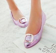 eleganti comode ballerine scarpe donna rasoterra rosa lucido tacco 1 moda 8794