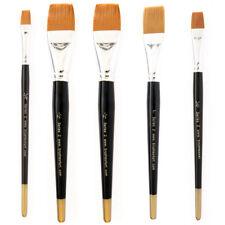 brushes4art artistes Aquarelle Peinture Pinceau - plat poils naturels, 5 Sizes