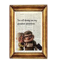 UP stampa poster foto dizionario Wall Art DISNEY CARL e Ellie