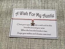 A Wish For My Auntie * Wish Bracelet * Friendship * Gift * Favor *