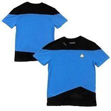 Star Trek Tng The Next Generation Blue Kirk Uniform Mens Costume Shirt S-3Xl