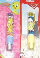 Radiergummi Radierstift Radierer Cars oder Tweety Looney für Zuckertüte Schule