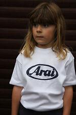 Arai helmets Kids White T shirt - 100% cotton - REDUCED