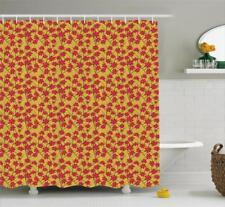 Floral Shower Curtain Polyester Fabric Spring Flowers Art Bathroom Decor