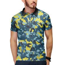 Military polo - Russia dazzle t-shirt army khaki camouflage камуфляж polo neck