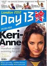 GIOCHI OLIMPICI giorno 13 tredici DAILY programma LONDON 2012