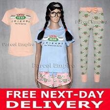 Official FRIENDS PJ T-SHIRT LEGGINGS SHORTS Central Perk Pyjamas TV Matt LeBlanc