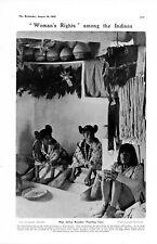 1905 PRINT ~ HOPI INDIANS ARIZONA NEW MEXICO GIRLS CORN